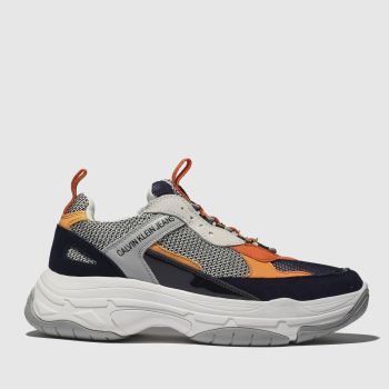reputable site 56048 69302 Calvin Klein Navy   Orange Marvin Mens Trainers