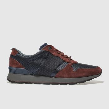 Ted Baker Navy & Red Jaymz Mens Trainers