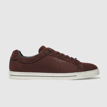 86d816ee166f37 Ted Baker Burgundy Werill Mens Trainers