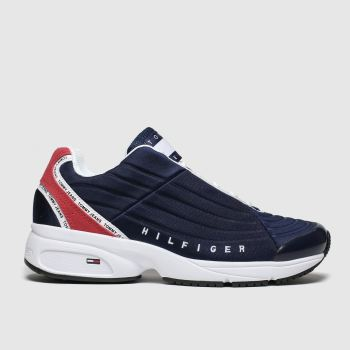 Tommy Hilfiger Navy & Red Tj Heritage Sneaker Mens Trainers