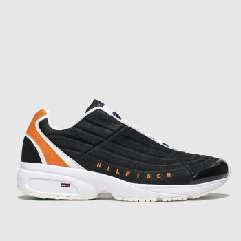Tommy Hilfiger Black & Orange Heritage Sneaker Trainers