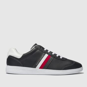 Tommy Hilfiger Navy & White Ess Corporate Cupsole Trainers