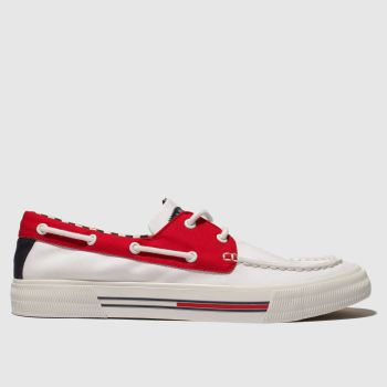 Tommy Hilfiger White & Red Tj Denim Hybrid City Sneaker Mens Trainers