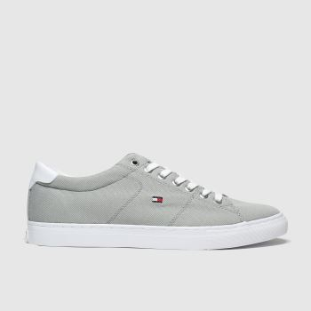 Tommy Hilfiger Grey Textile Sneaker c2namevalue::Mens Trainers