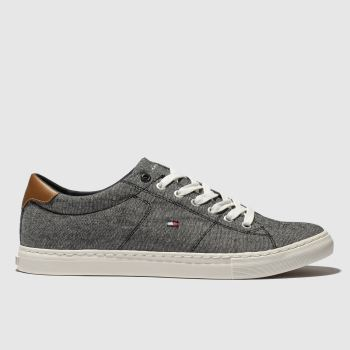 Tommy Hilfiger Dark Grey Tj Textile Sneaker c2namevalue::Mens Trainers