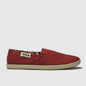 Tommy Hilfiger Red Tj Summer Mens Shoes
