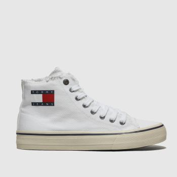 Tommy Hilfiger White Tj Hightop Sneaker Mens Trainers