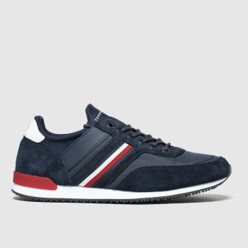 Tommy Hilfiger Navy Tj Iconic Sock Runner Mens Trainers#