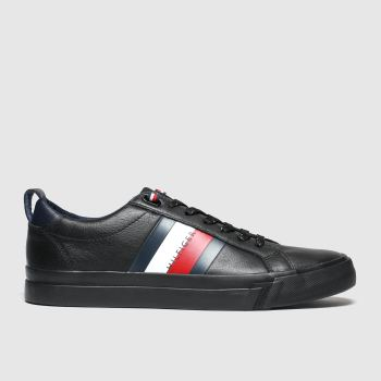 Tommy Hilfiger Black Flag Detail Sneaker Mens Trainers