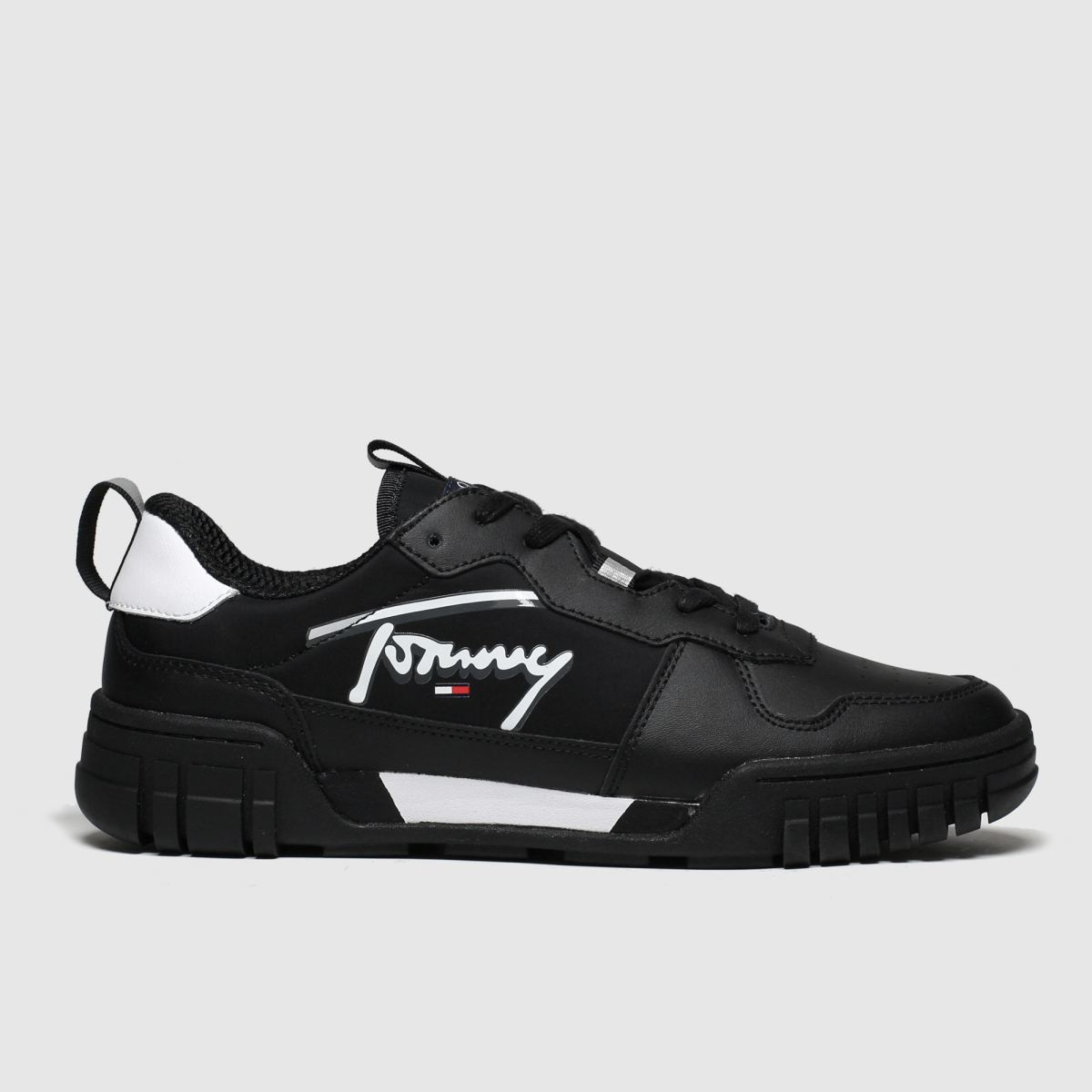 Tommy Hilfiger Black & White Tj Signature Sneaker Trainers