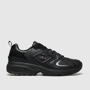 Tommy Hilfiger Black Tj Heritage Sneaker c2namevalue::Mens Trainers