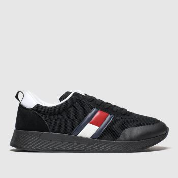Tommy Hilfiger Black Flexi Flag Sneaker c2namevalue::Mens Trainers