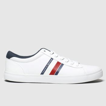 Tommy Hilfiger White Essential Stripes Sneaker Mens Trainers