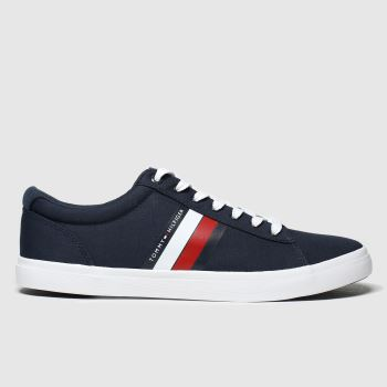 Tommy Hilfiger Navy Essential Stripes Sneaker Mens Trainers