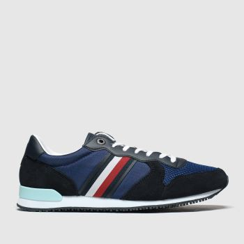 Tommy Hilfiger Blue Iconic Mix Runner c2namevalue::Mens Trainers