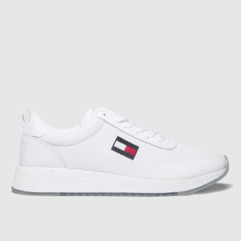 Tommy Hilfiger White Tj Flexi Runner Mens Trainers