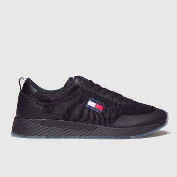 Tommy Hilfiger Black Tj Flexi Runner Mens Trainers