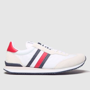 Tommy Hilfiger White Mix Runner Mens Trainers