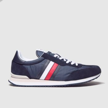 Tommy Hilfiger Navy Mix Runner Mens Trainers