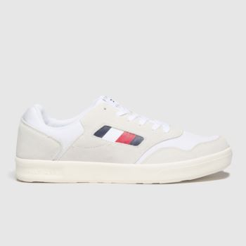Tommy Hilfiger White Lightweight Mix Cupsole Mens Trainers