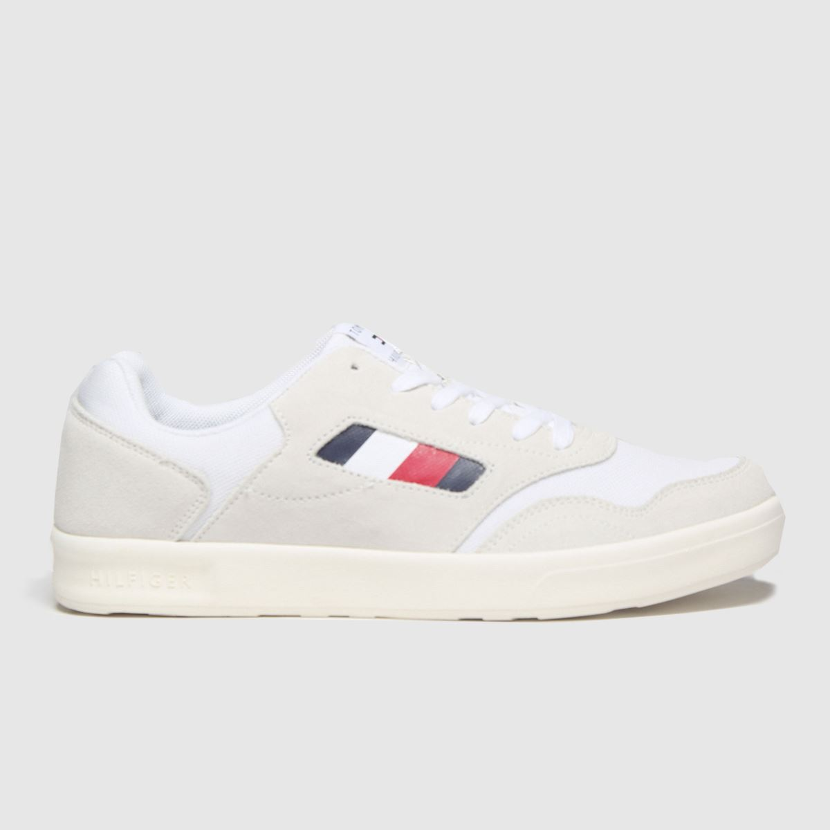 Tommy Hilfiger White Lightweight Mix Cupsole Trainers