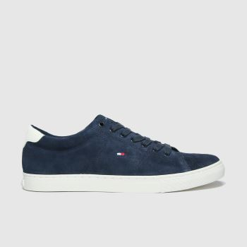 Tommy Hilfiger Navy Suede Vulc Sneaker Mens Trainers