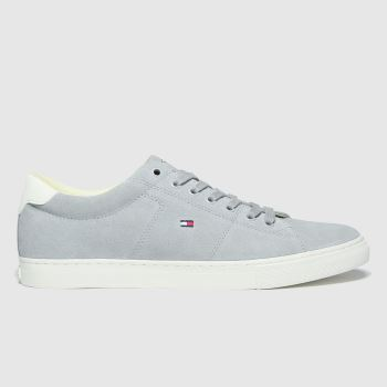 Tommy Hilfiger Grey Suede Vulc Sneaker Mens Trainers