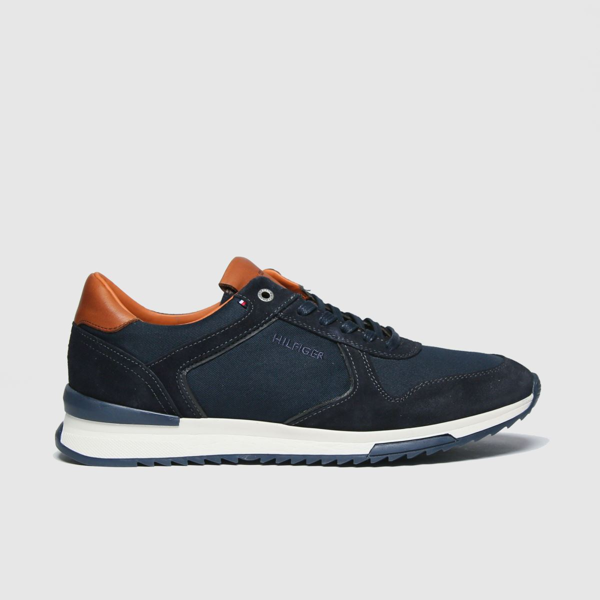 Tommy Hilfiger Navy Runner Craft Mix Sneaker Trainers