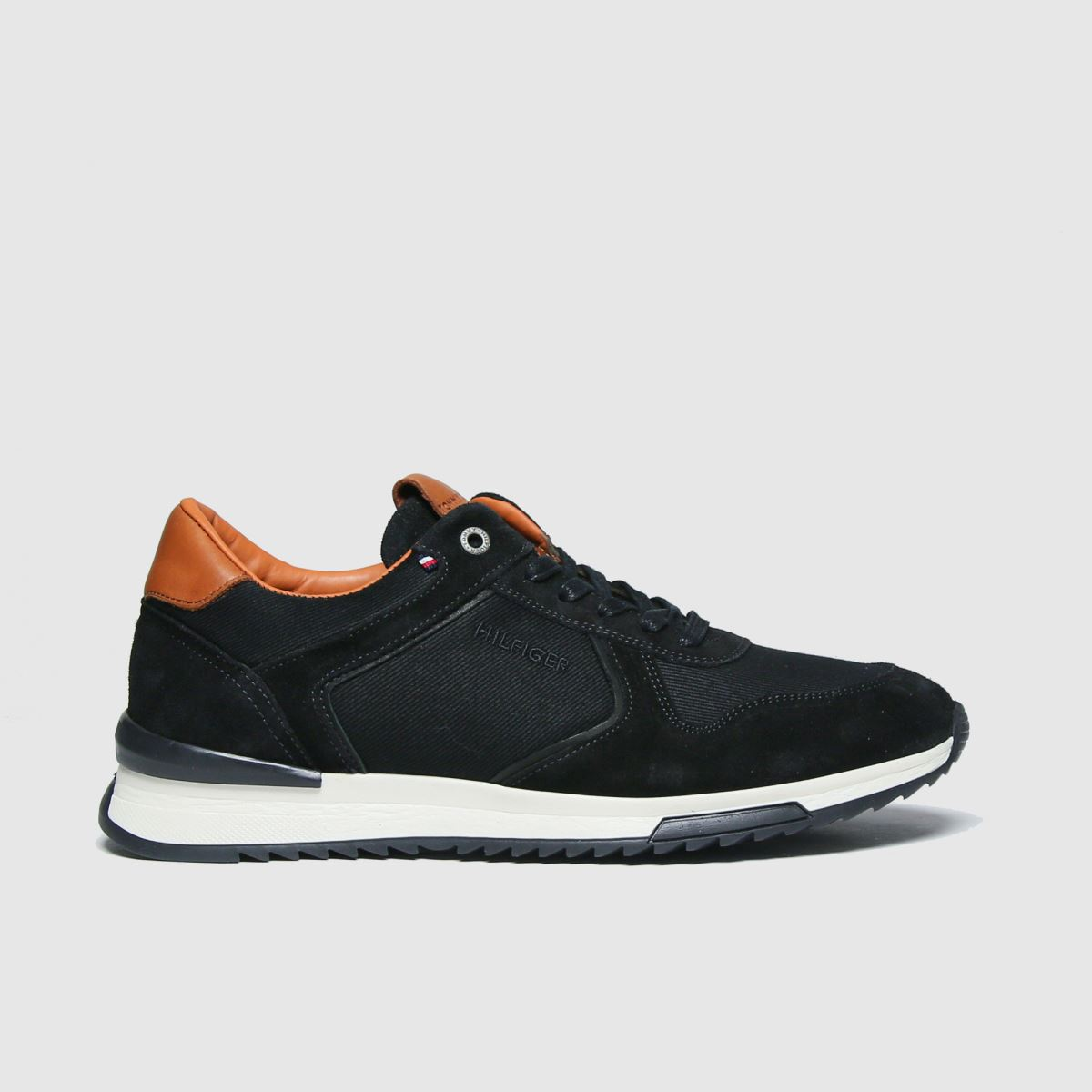 Tommy Hilfiger Black Runner Craft Mix Sneaker Trainers