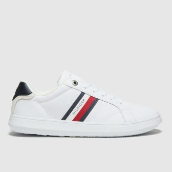 Tommy Hilfiger White Essential Cupsole Sneaker Mens Trainers#