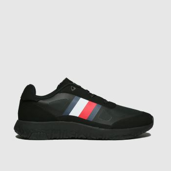Tommy Hilfiger Black Mix Modern Runner Mens Trainers#