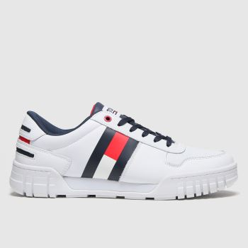 Tommy Hilfiger White Retro Sneaker Mens Trainers