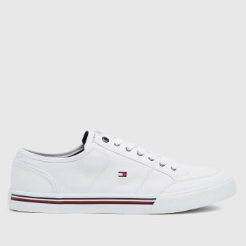 Tommy Hilfiger White Corporate Textile Sneaker Trainers
