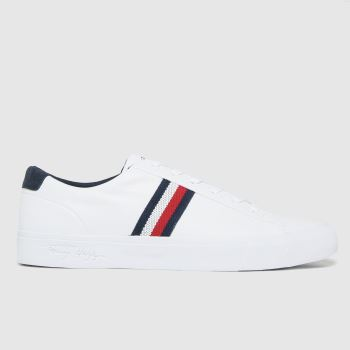 Tommy Hilfiger White Corporate Leather Sneaker Mens Trainers