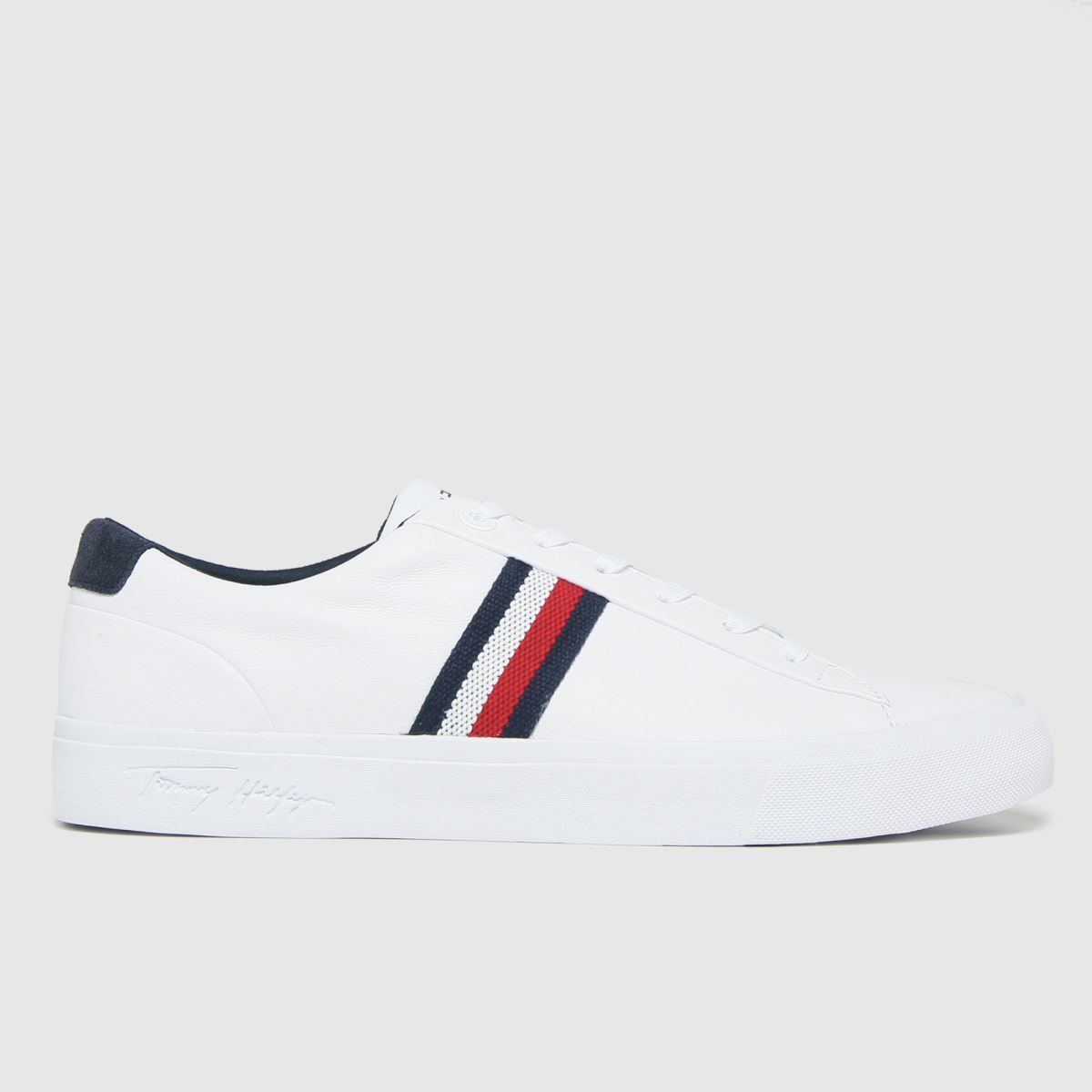 Tommy Hilfiger White Corporate Leather Sneaker Trainers