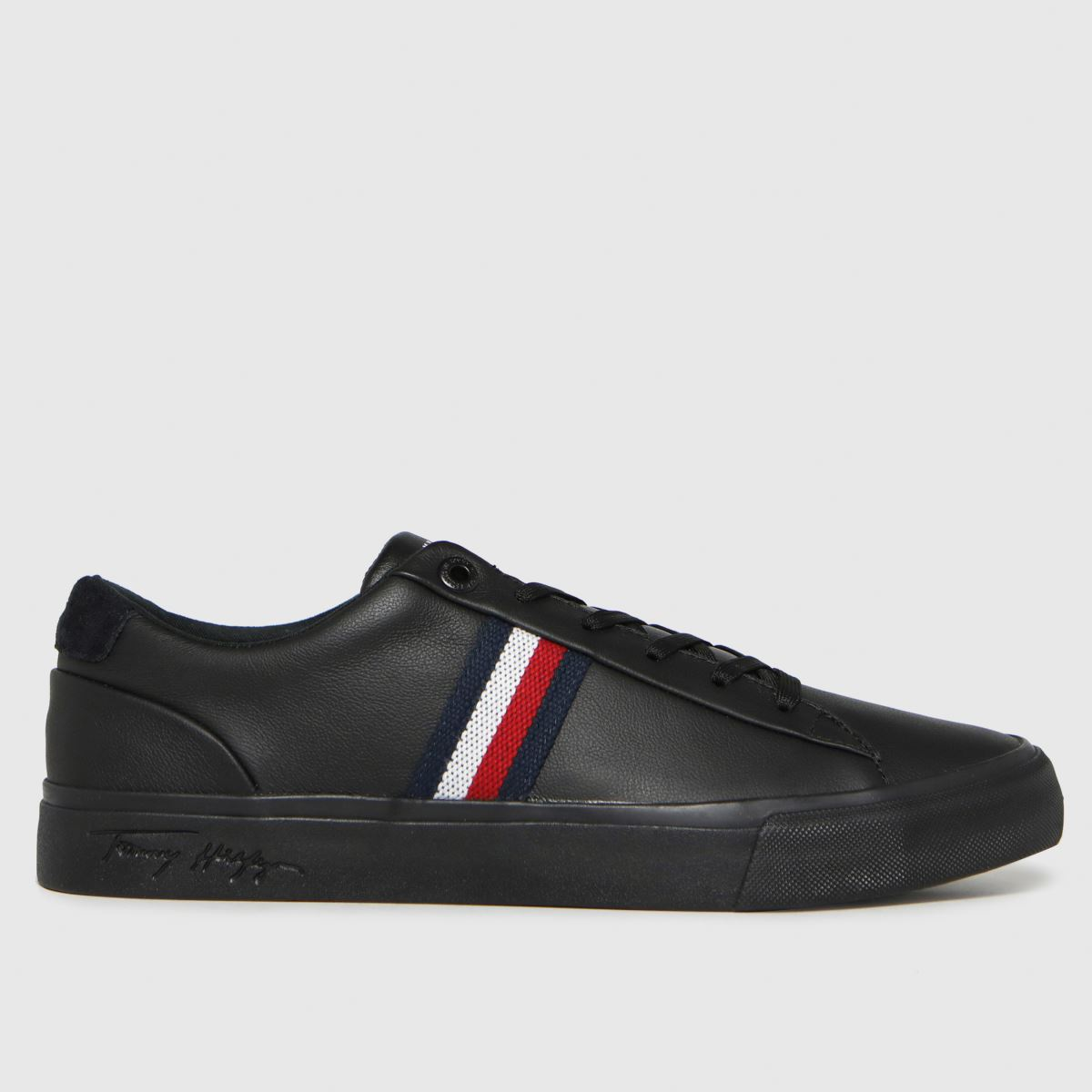 Tommy Hilfiger Black Corporate Leather Sneaker Trainers