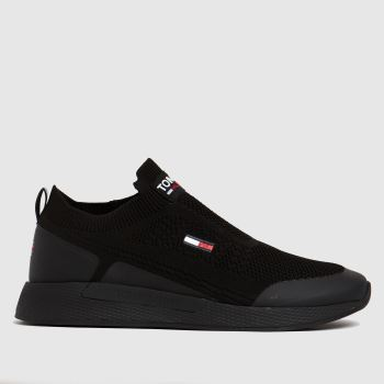 Tommy Hilfiger Black Flexi Sock Runner Mens Trainers