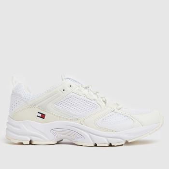 Tommy Hilfiger White Archive Mesh Runner Mens Trainers