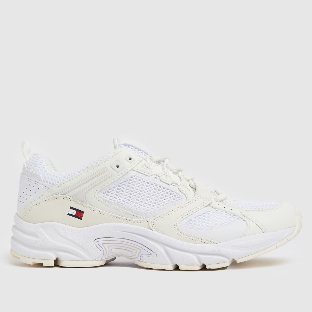 Tommy Hilfiger White Archive Mesh Runner Trainers