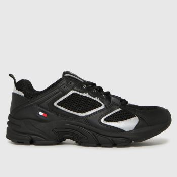 Tommy Hilfiger Black Archive Mesh Runner Mens Trainers