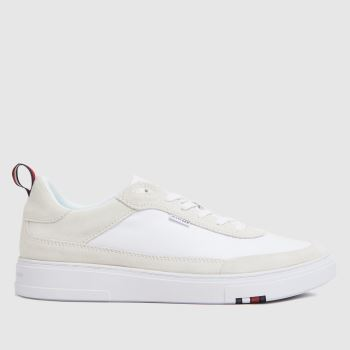 Tommy Hilfiger White Modern Cupsole Mens Trainers