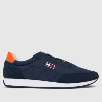 Tommy Hilfiger Navy Retro Lo Runner Mix Mens Trainers