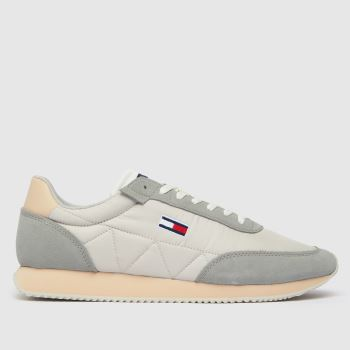 Tommy Hilfiger Grey Retro Lo Runner Mix Mens Trainers