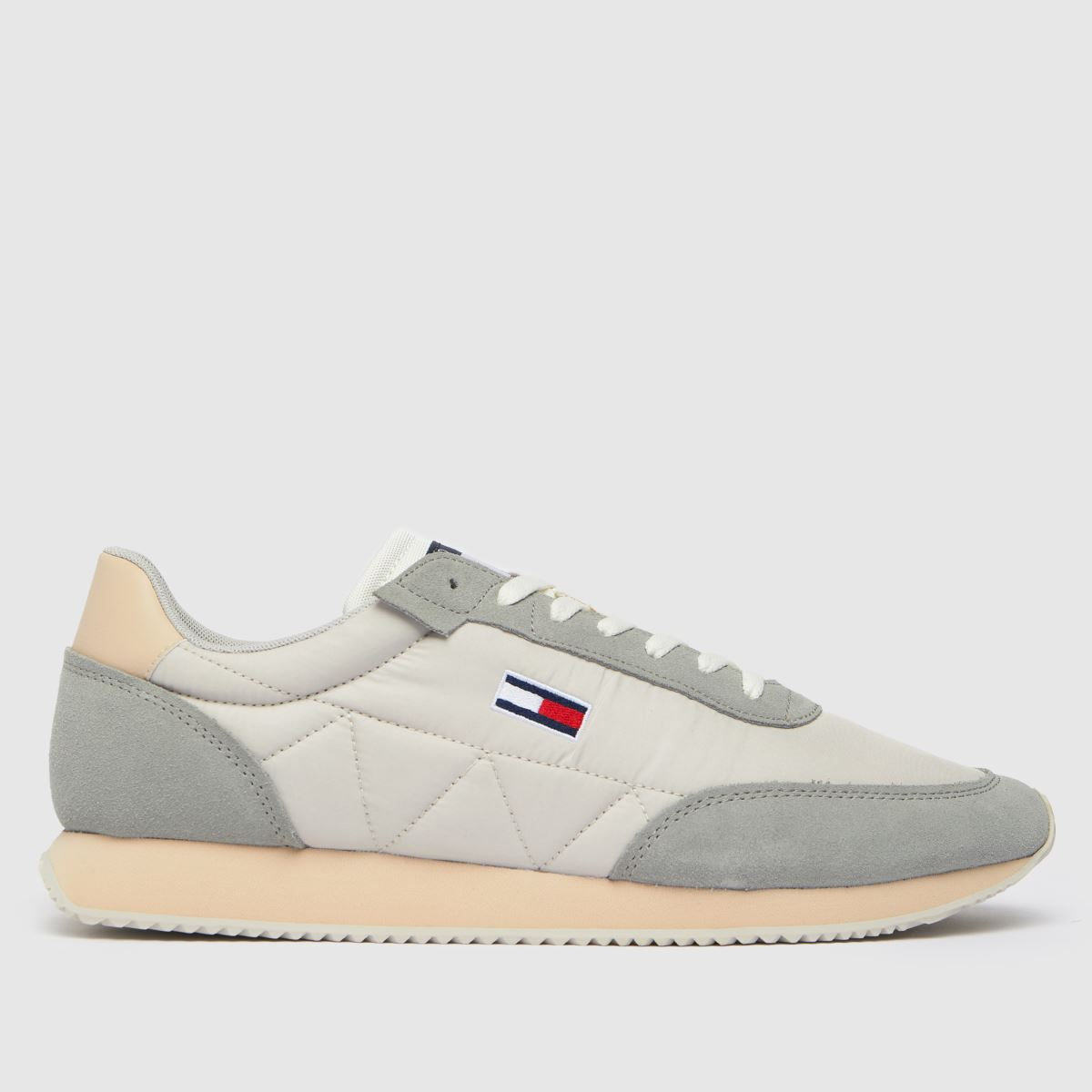 Tommy Hilfiger Grey Retro Lo Runner Mix Trainers