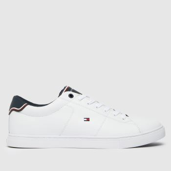 Tommy Hilfiger White Essential Leather Sneaker Mens Trainers