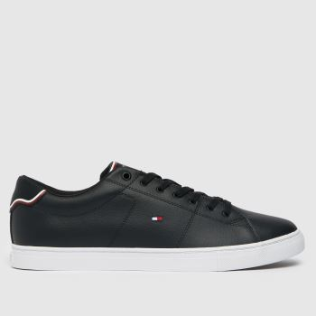 Tommy Hilfiger Black & White Essential Leather Sneaker Mens Trainers