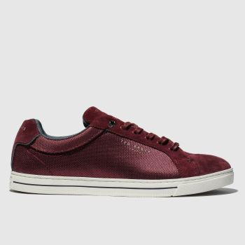 ted baker burgundy eeril trainers