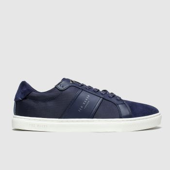 Ted Baker Navy Qwuin c2namevalue::Mens Trainers