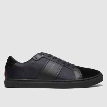 Ted Baker Black Qwuin c2namevalue::Mens Trainers