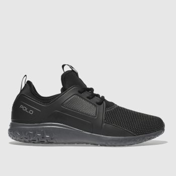 Polo Ralph Lauren Black & Grey TRAIN 150 Trainers